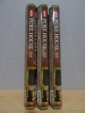 Pure House Incense 3 Packs x 20 Sticks Hem Hex Free Post AU