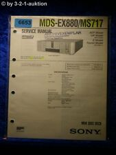 Sony Service Manual MDS EX880 /MS717 Mini Disc Player (#6653)