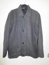 Veste polo RAPLH LAUREN gris laine manteau L