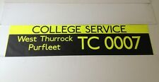 "London Bus Blind 1(42"") - College West Thurrock / Purfleet"