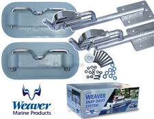 Weaver Snap Davit Kit with Extended Heads for curved swim platform