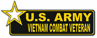 "U.S. Army Vietnam Combat Star Veteran 6"" Bumper Sticker"