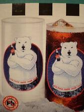 Coca-Cola Set of 6 ATTITUDE BEARS Drink Glasses*Coca Cola*COKE*Ltd Ed~FREE SHIP~