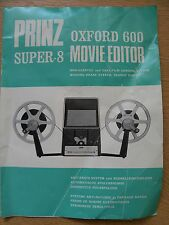 Instructions cine movie editor PRINZ OXFORD 600 super 8 UK German French CD/Emal