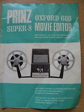 Instructions cine movie editor PRINZ OXFORD 600 super 8 English German & French