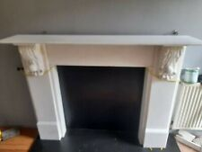 More details for stunning antique victorian satuatory marble fire surround
