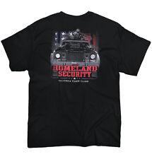 Redneck Humor Homeland Security Bubba Truck Funny Printed Adult T-Shirt Black