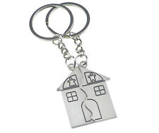 2 Pcs Couple Lovers Key Chains Family House Man Woman Love Home Sweetheart Ring