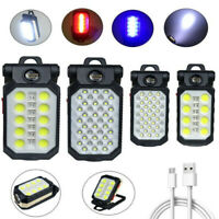 Magnetic Rechargeable COB LED Work Light Inspect Lamp Flashlight Folding Torch