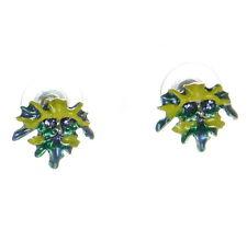 Kirks Folly Petite Enchanted Forest Green Man Pierced Earrings