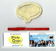 """""""The Office"""" used prop Red Pen Sticky Quips Speech Bubble/Balloon!!!"""