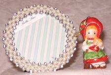 Vintage Holly Hobbie Ceramic Christmas Ornament 1982 American Greetings + Frame