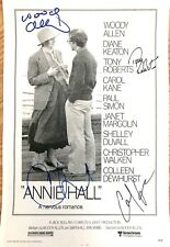 Woody Allen, Christopher Walken, Tony Roberts & Carol Kane signed Annie Hall. IP