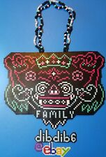 Yellow claw kandi perler necklace rave EDC PLUR family