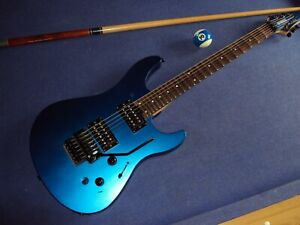 Scalloped YAMAHA RGX 420 DZ,blue,HH,FR,24FT,playing  a la Yngwie, Ritchie & Co!