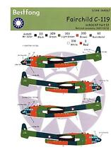 Bestfong Decals 1/144 FAIRCHILD C-119 FLYING BOX CAR Chinese AF Retirement Cerem