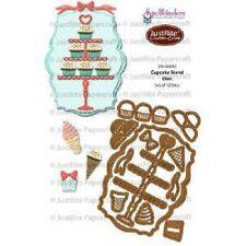 Spellbinders Justrite custom meurt cupcake stand meurt sw-04880 12 dies crème glacée