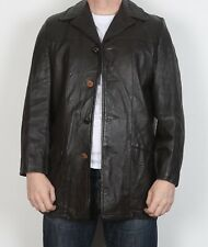 "Leather Jacket UK 38"" Small Medium Fitted Brown 70's With liner (6ACB)"