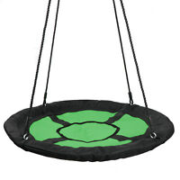 """Giant 40"""" Disc Swing Seat Oxford Saucer Tree Swing w/ Adjustable Safe PE Rope"""