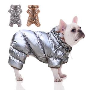 Warm Fleece Small Dog Jumpsuit Waterproof Pet Vest Clothes Winter Coat Jacket