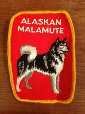 Alaskan Malamute Embroidered Sew On Patch