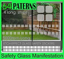 Safety Stickers Etch Effect Rounded Squares Smart Look Frost Glass Manifestation