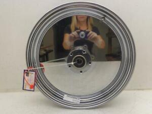 "Harley Davidson F16x3.25 CHROME REAR WHEEL RIM 3/4"" CARRIAGE WORKS SOLID DISC"