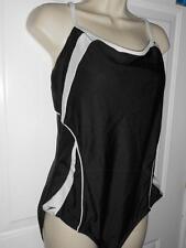 SPEEDO 1pc Black White Convertable Bathing Swimsuit Bathingsuit Womens 14 40
