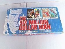 """THE SIX MILLION DOLLAR MAN"" FAMILY BOARD GAME, VNTG-1975, PARKER BROS.-IN USA"