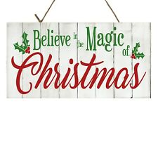 Believe in the Magic of Christmas Printed Handmade Wood Sign