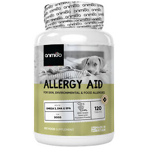 Animigo Allergy Aid 120 for Dogs | Support for Allergies, Immune & Skin Health