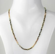 Kette Halskette 585 Gold Tricolor 50cm Gelbgold Weißgold Rotgold 4mm 18g NEU