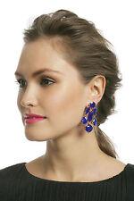 Kate Spade New York NWT sapphire blue chandelier elegant earrings marquis stones