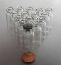 NEW 30 small Glass Bottle Vial & Lids Switzerland  lab Jar craft