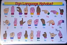 American Sign Language Alphabet Placemat (ASL) Multi-Color