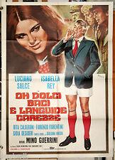 manifesto 2F originale OH DOLCI BACI E LANGUIDE CAREZZE Luciano Salce 1970