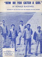 Sam the Sham & Pharoahs sheet music How Do You Catch a Girl 1966 3 pages (G+)