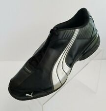 Puma 185399 Super Elevate Sneakers Mens Black Leather Silver Shoes Size 10.5