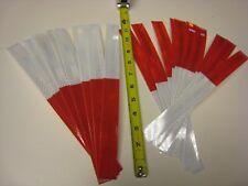 3M BRAND WHITE RED Reflective Diamond Grade Conspicuity Tape 20 Strips 1-1/2 -12