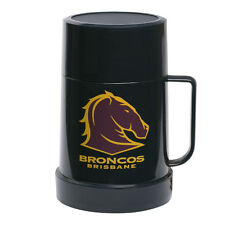 Brisbane Broncos NRL Thermos Flask with Lid to use as Mug Cup Man Cave Work Gift