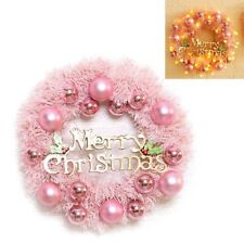 Christmas Garland Creative Pink Hanging Wreath Xmas Party Door Ornament 1 pc