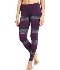 Women's Athleta Chaturanga Yoga Leggings Colorblock Stripe Purple Gray Size XXS