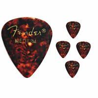 Fender Premium Colored Celluloid Guitar Picks 351 Shell Medium - 5 Picks