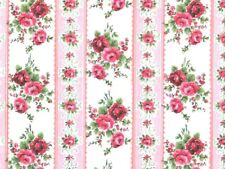 Pink Rose Wallpaper, Dolls House Miniature, DIY Wall Paper