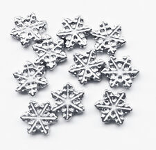10pc Lot Snowflake Christmas Holiday Floating Charm For Memory Locket Necklace