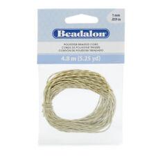Beadalon Poly Braided Cord 1mm - 5.25YD Tan White