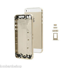 TELAIO SCOCCA POSTERIORE IPHONE 5S ORO BACK COVER MIDDLE FRAME GOLD VETRO