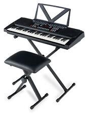 Digital 54 Tasten Keyboard E-Piano Set X-Ständer Hocker Lernfunktionen schwarz