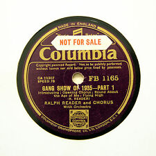 "RALPH READER & CHORUS ""Gang Show Of 1935"" (N-) COLUMBIA FB-1165 [78 RPM]"