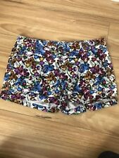 NOW Sz 14 Womens Shorts Floral Stretch Cuffed Hems Mid Rise Beach Casual Party